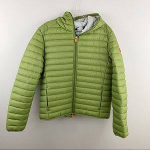 Save the Duck • Green Puffer Jacket